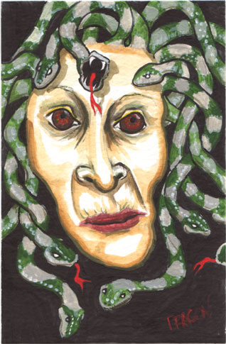 Medusa For Tiki King | copyright Dragon Messmer 2005, skullyflower.com