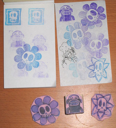 Rubber  Stamps | copyright Dragon Messmer 2005, skullyflower.com