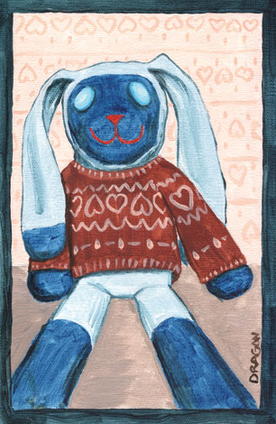 Bunny Sweater | copyright Dragon Messmer 2005, skullyflower.com