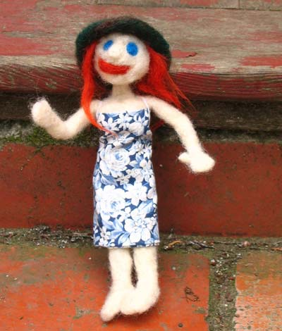 Needle  Felted  Dolly | copyright Dragon Messmer 2006, skullyflower.com
