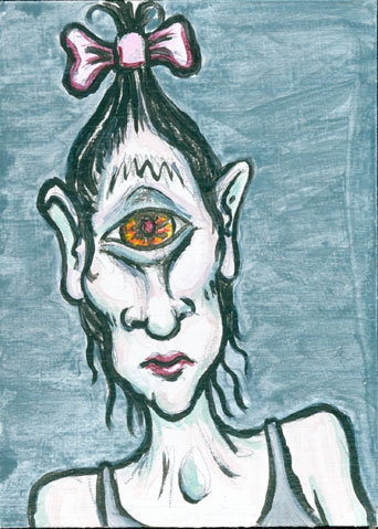 Sad Cyclops | copyright Dragon Messmer 2006, skullyflower.com