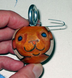 bear1 Ornament | copyright Dragon Messmer 2007, skullyflower.com