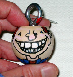 smiley1 Ornament | copyright Dragon Messmer 2007, skullyflower.com