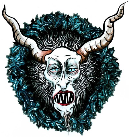 Very Krampus | copyright Dragon Messmer 2011, skullyflower.com