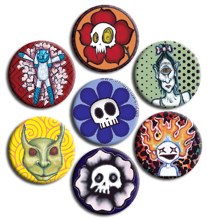 Button Variety Pack (7 badges)