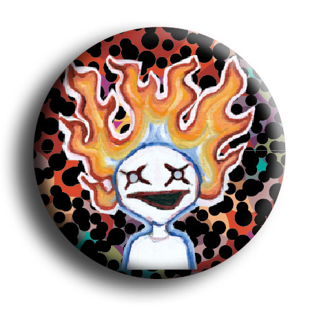 Flame Ghost Button