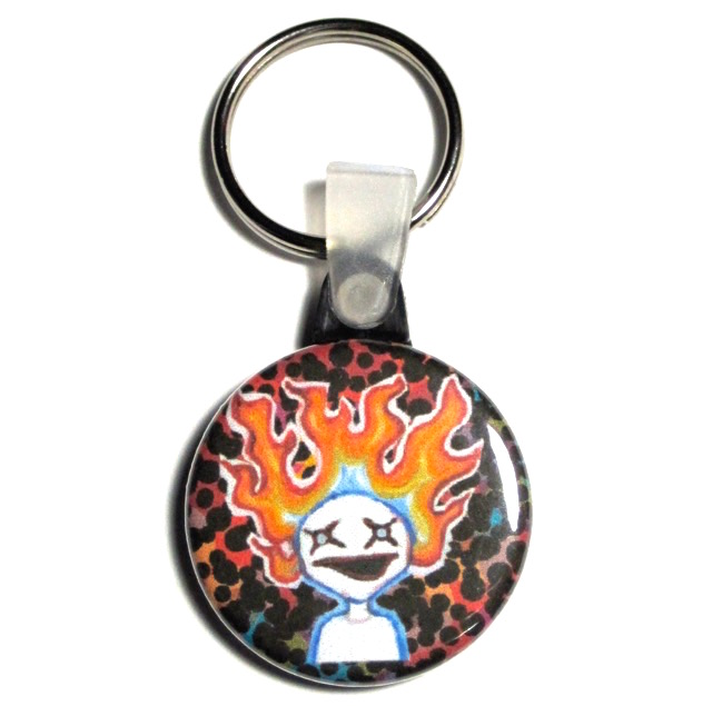 Flame Ghost Keychain