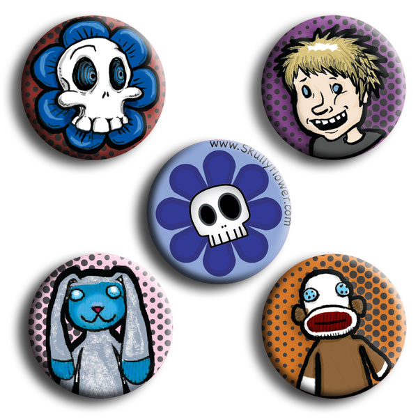 SkullyFlower Comic Magnet Pack (5 Magnet)