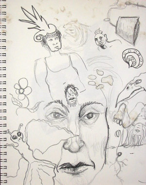 Sketch Book | copyright Dragon Messmer 2005, skullyflower.com