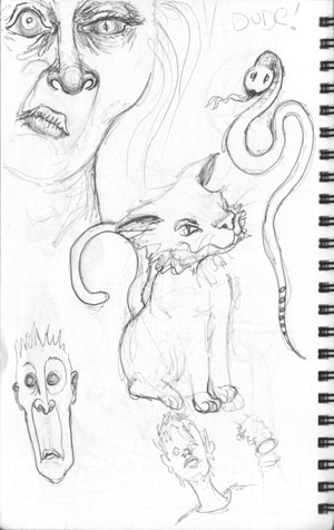 workdoodle | copyright Dragon Messmer 2005, skullyflower.com