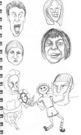 Faces and  Andy | copyright Dragon Messmer 2005, skullyflower.com