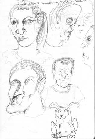 More  Faces | copyright Dragon Messmer 2005, skullyflower.com