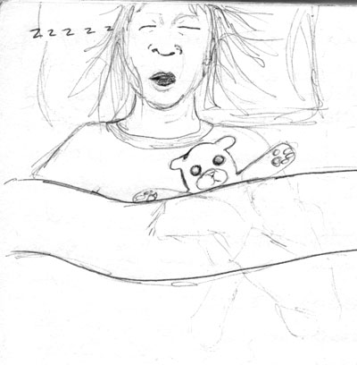 Sleeping | copyright Dragon Messmer 2005, skullyflower.com